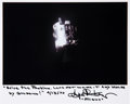 Autographs:Celebrities, Gene Kranz Signed Apollo 13 Damaged Service Module Photo with Quote. ...