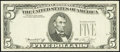 Error Notes:Third Printing on Reverse, Fr. 1973-G $5 1974 Federal Reserve Note. Very Choice Crisp Uncirculated.. ...