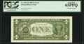 Error Notes:Third Printing on Reverse, Fr. 1913-D $1 1985 Federal Reserve Note. PCGS Gem New 65PPQ.. ...