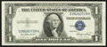 Error Notes:Obstruction Errors, Fr. 1614 $1 1935E Silver Certificate. About Uncirculated.. ...
