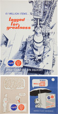 "Explorers:Space Exploration, NASA Manned Flight Awareness Posters: Collection of Six Originals, All Regarding ""Critical Space Items"" with Three Featuring S... (Total: 6 Items)"