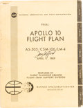 Explorers:Space Exploration, Tom Stafford Signed Book: Final Apollo 10 Flight Plan AS-505 / CSM-106 / LM-4....