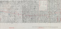 """Apollo 8 Flown """"Target of Opportunity Flight Chart (ATO)"""" with Crew-Named Crater Notations Directly from the P..."""