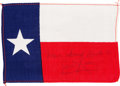 Explorers:Space Exploration, Apollo 13 Flown Texas State Flag Directly from the PersonalCollection of Mission Commander James Lovell, Signed andCertified...