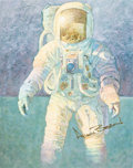 "Autographs:Celebrities, Alan Bean Signed Large Color Print: ""That's How It Felt to Walk onthe Moon""...."