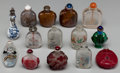 Asian:Chinese, A Group of Fourteen Chinese Snuff Bottles. 3-7/8 inches (highest)(9.7 cm). ... (Total: 14 Items)