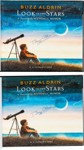 Autographs:Celebrities, Buzz Aldrin Signed Books (Two): Look to the Stars. ...(Total: 2 Items)