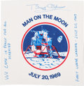 "Explorers:Space Exploration, Buzz Aldrin Signed ""Man on the Moon"" Beta Cloth Patch...."
