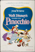 "Movie Posters:Animation, Pinocchio & Others Lot (Buena Vista, R-1978). Posters (3) (40"" X 60""). Animation.. ... (Total: 3 Items)"