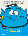 "Movie Posters:Animation, Aladdin (Buena Vista, 1992). Bus Shelter (47.5"" X 67.5"") DS. Animation.. ..."