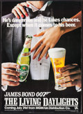 "Movie Posters:James Bond, The Living Daylights/Carlsberg (MGM/United Artists, 1987). Tie-In Advertising Display (20"" X 27.75""). James Bond.. ..."
