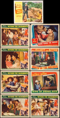 "Movie Posters:Western, Beyond the Sacramento & Others Lot (Columbia, 1940). Lobby Cards (17) (11"" X 14""). Western.. ... (Total: 17 Items)"