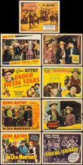 "Movie Posters:Western, In Old Monterey & Others Lot (Republic, 1939). Title Lobby Cards (4) & Lobby Cards (5) (11"" X 14""). Western.. ... (Total: 9 Items)"
