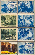 """Movie Posters:Western, In Old Santa Fe & Others Lot (Mascot, 1934). Lobby Cards (15) & Title Lobby Cards (3)(11"""" X 14""""). Western.. ... (Total: 18 Items)"""