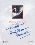 "Autographs:Celebrities, Alan Bean Signed ""Reaching for the Stars"" Sprint PCS Program. ..."
