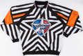 Hockey Collectibles:Others, 2014 KHL Legends Referee's Jersey and Paul Stewart Signed Puck....