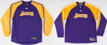 Basketball Collectibles:Uniforms, Circa 2010 Jordan Farmar Game Worn Los Angeles Lakers Warmup ShirtsLot of 2....