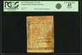 Colonial Notes:Pennsylvania, Pennsylvania March 20, 1771 20 Shillings Fr. PA-149. PCGS ExtremelyFine 45 Apparent.. ...