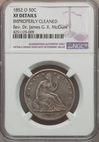 1852-O 50C -- Improperly Cleaned -- NGC Details. XF. NGC Census: (5/26). PCGS Population (20/51). Mintage: 144,000. Numi...