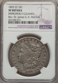 1893-CC $1 -- Improperly Cleaned -- NGC Details. XF. NGC Census: (194/2097). PCGS Population (341/4148). Mintage: 677,00...