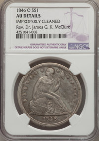 1846-O $1 -- Improperly Cleaned -- NGC Details. AU. NGC Census: (18/88). PCGS Population (27/88). Mintage: 59,000. Numis...