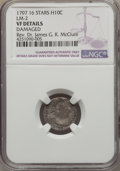Early Half Dimes, 1797 H10C 16 Stars, V-4, LM-2, R.4, -- Damaged -- NGC Details. VF.NGC Census: (1/15). PCGS Population (0/1). . From The...