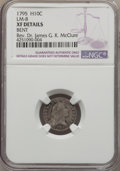 Early Half Dimes, 1795 H10C V-5, LM-8, R.3, -- Bent -- NGC Details. XF. NGC Census:(3/12). PCGS Population (0/5). . From The Rev. Dr. Jam...