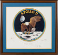 Explorers:Space Exploration, Apollo 11 Mission Insignia Artwork Print Signed by Artist JamesCooper, in Framed Display....