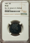 Proof Barber Quarters: , 1902 25C PR64 NGC. NGC Census: (59/88). PCGS Population (73/64). Mintage: 777. Numismedia Wsl. Price for problem free NGC/P...