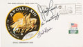 "Explorers:Space Exploration, Apollo 13 Crew-Signed ""Type One"" Insurance Cover Directly from thePersonal Collection of Mission Commander James Lovell, with..."