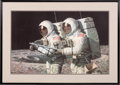 """Explorers:Space Exploration, Alan Bean Signed Limited Edition """"Helping Hands"""" Print, #739/850, in Framed Display...."""