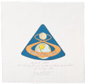 Explorers:Space Exploration, Apollo 8 Flown Beta Cloth Mission Insignia Directly from thePersonal Collection of Mission Command Module Pilot JamesLovell,...