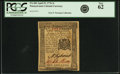 Colonial Notes:Pennsylvania, Pennsylvania April 25, 1776 2 Shillings Fr. PA-203. PCGS New 62.....