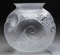 Art Glass:Lalique, A Lalique Clear and Frosted Glass Xian Vase, circa 1996.Marks: Lalique, France. 7-1/2 inches high (19.1 cm)...