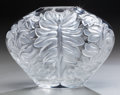 Art Glass:Lalique, A Lalique Clear and Frosted Glass Mahe Vase, circa 1992.Marks: Lalique, France. 6 inches inches high (15.2 ...