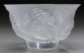 Art Glass:Lalique, A Lalique Clear and Frosted Glass Kelapa Moyen Bowl, circa1990. Marks: Lalique, France. 3-3/4 inches high x...