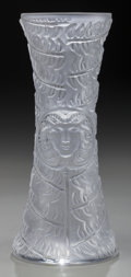 Art Glass:Lalique, A Lalique Clear and Frosted Glass Psyche Bud Vase, post 1945.Marks: Lalique, France, HO218. 7-1/4 inches high (18.4cm)...
