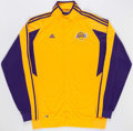 Basketball Collectibles:Uniforms, 2003-04 Bryon Russell Game Worn Los Angeles Lakers Warmup Jacketand Pants....