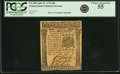 Colonial Notes:Pennsylvania, Pennsylvania April 25, 1776 40 Shillings Fr. PA-208. PCGS ChoiceAbout New 55.. ...