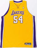 Basketball Collectibles:Uniforms, 2005-06 Kwame Brown Game Worn Los Angeles Lakers Jersey....