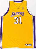 Basketball Collectibles:Uniforms, 2005-06 Chris Mihm Game Worn Los Angeles Lakers Jersey....