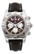 Timepieces:Wristwatch, Breitling Chronomat GMT Certified Chronometer Chronograph Wristwatch. ...