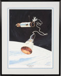 "Explorers:Space Exploration, Michael Collins Signed James Dean Limited Edition ""Beyond My Grasp-Gemini 10 EVA"" Artist-Signed Print, #7/100, in Framed Disp..."