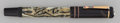 Decorative Arts, Continental, A Writers Edition Montblanc Oscar Wilde Marbled Resin,Silver and 18K Gold Fountain Pen, circa 1994. 5-3/4 inche...