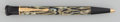 Decorative Arts, Continental, A Writers Edition Montblanc Oscar Wilde Marbled Resin andGilt Silver Ballpoint Pen, circa 1994. 5-1/2 inches lo...