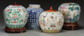 Asian:Chinese, Four Chinese Porcelain Ginger Jars. 9-1/2 inches (24.1 cm)(highest, excluding stand). ... (Total: 4 Items)