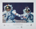 "Explorers:Space Exploration, Alan Bean Signed Limited Edition ""Right Stuff Field Geologists""Print, also Signed by Gene Cernan and Harrison Schmitt, #272/5..."
