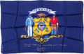 Explorers:Space Exploration, Apollo 13 Flown Largest-Size Wisconsin State Flag Directly from thePersonal Collection of Mission Commander James Lovell, Sig...
