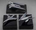 Other:American, Three Art Deco Mounted Hood Ornaments, circa 1930-1950. 3-1/2inches high x 10 inches long (8.9 x 25.4 cm) (largest). ... (Total:3 Items)
