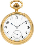 Timepieces:Pocket (pre 1900) , Patek Philippe Very Rare Gold Two Train Trip Five Minute RepeaterFor Tiffany & Co., circa 1902. ...